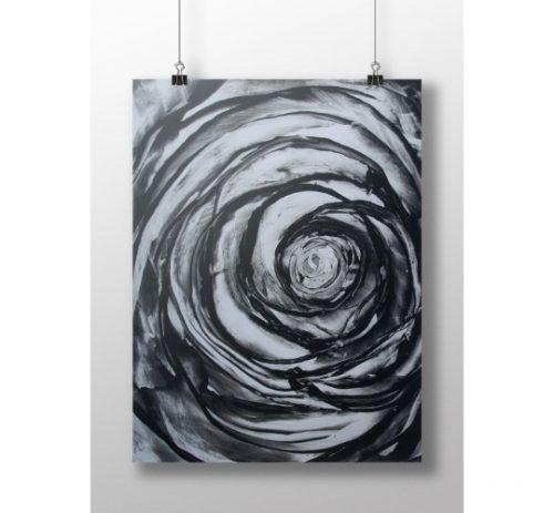 musta ruusu juliste